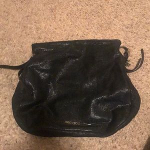 Jimmy Choo Lizard Embossed Large Boho Biker Hobo